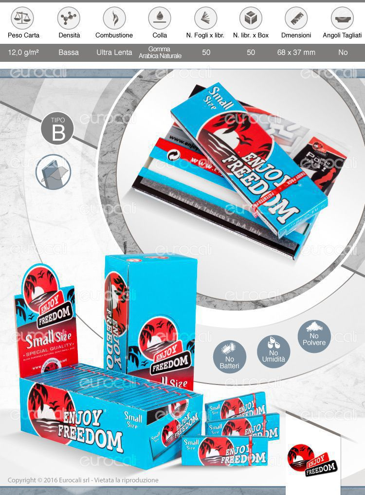 Cartine Enjoy Freedom Corte Blu