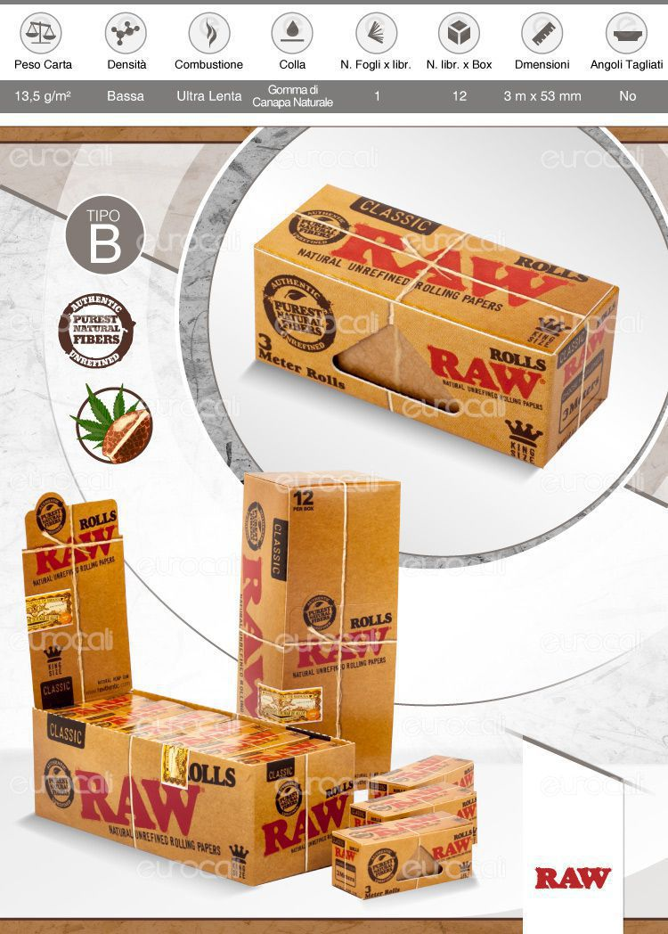 Cartine Raw Classic Rolls