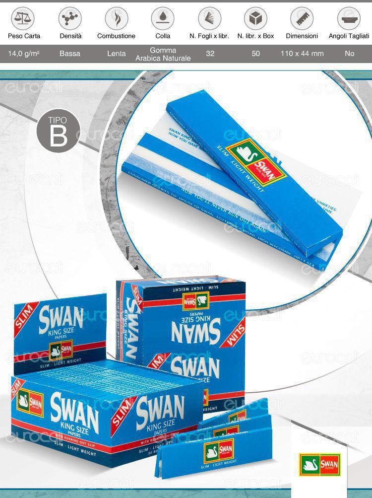 Cartine Swam Blu King Size