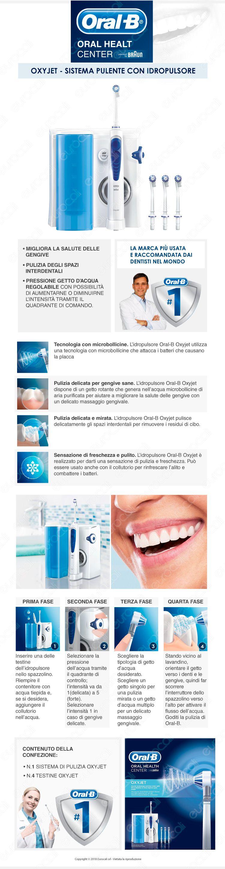 Oral-B idropulsore oxyjet braun igiene orale