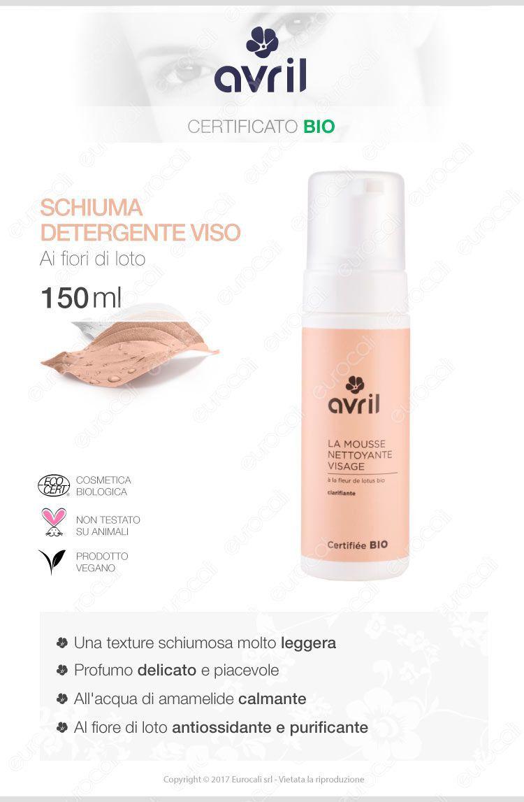 Avril schiuma detergente viso biologica