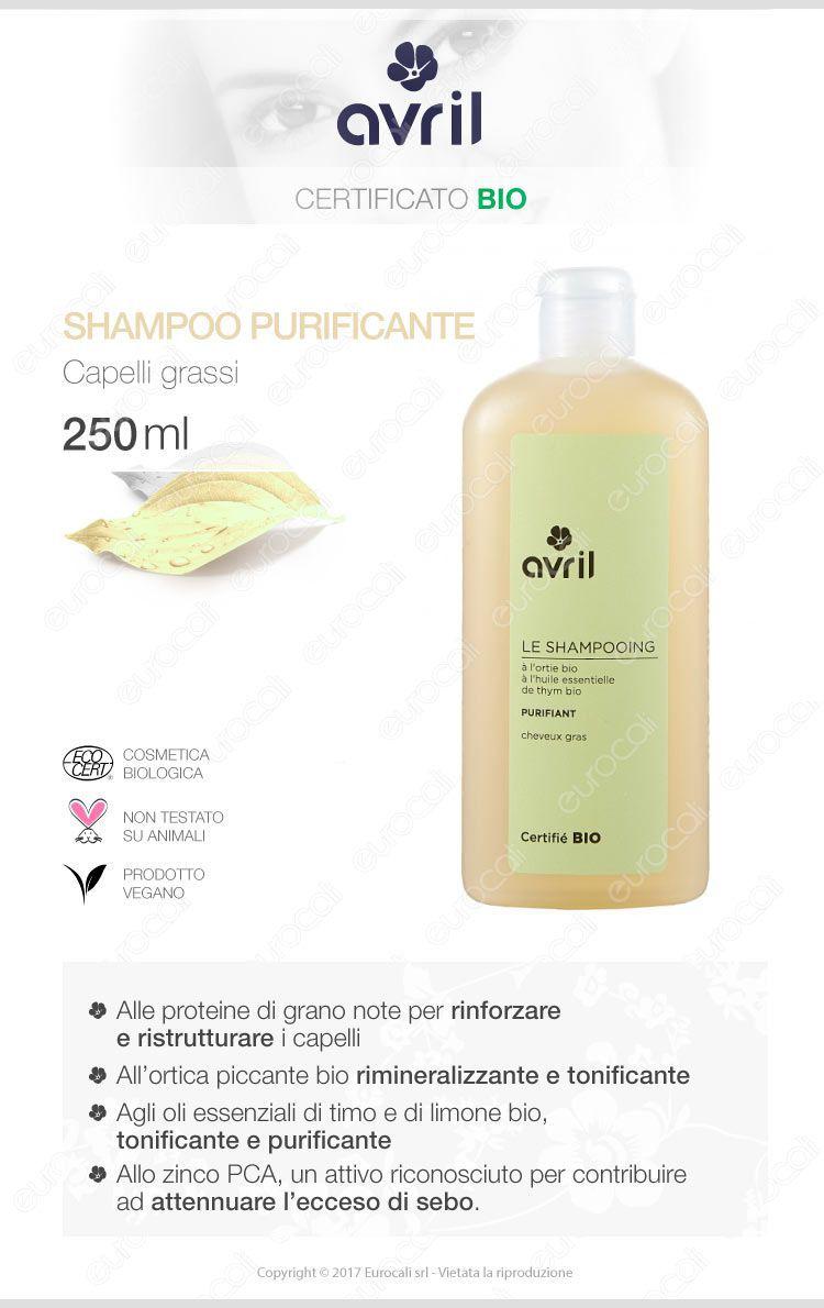 Avril Shampoo purificante per capelli grassi