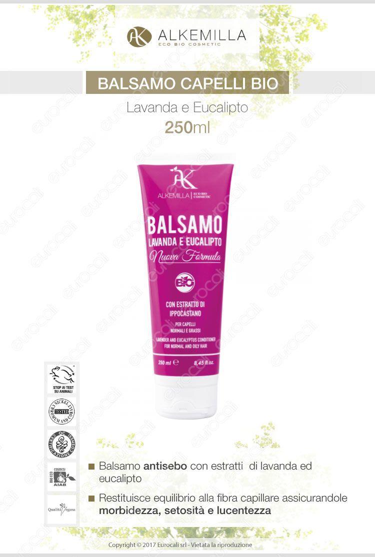 Alkemilla balsamo capelli bio lavanda ed eucalipto 250ml