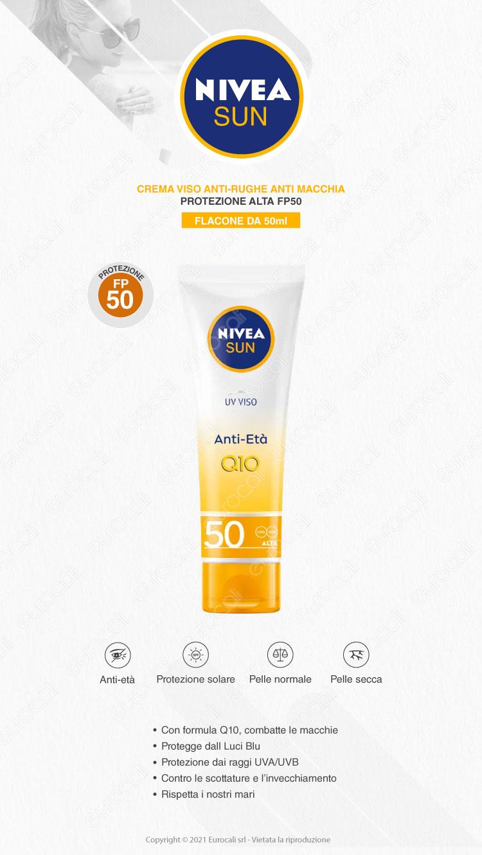 Nivea Crema Viso Solare Anti-Rughe & Anti-Macchie FP50