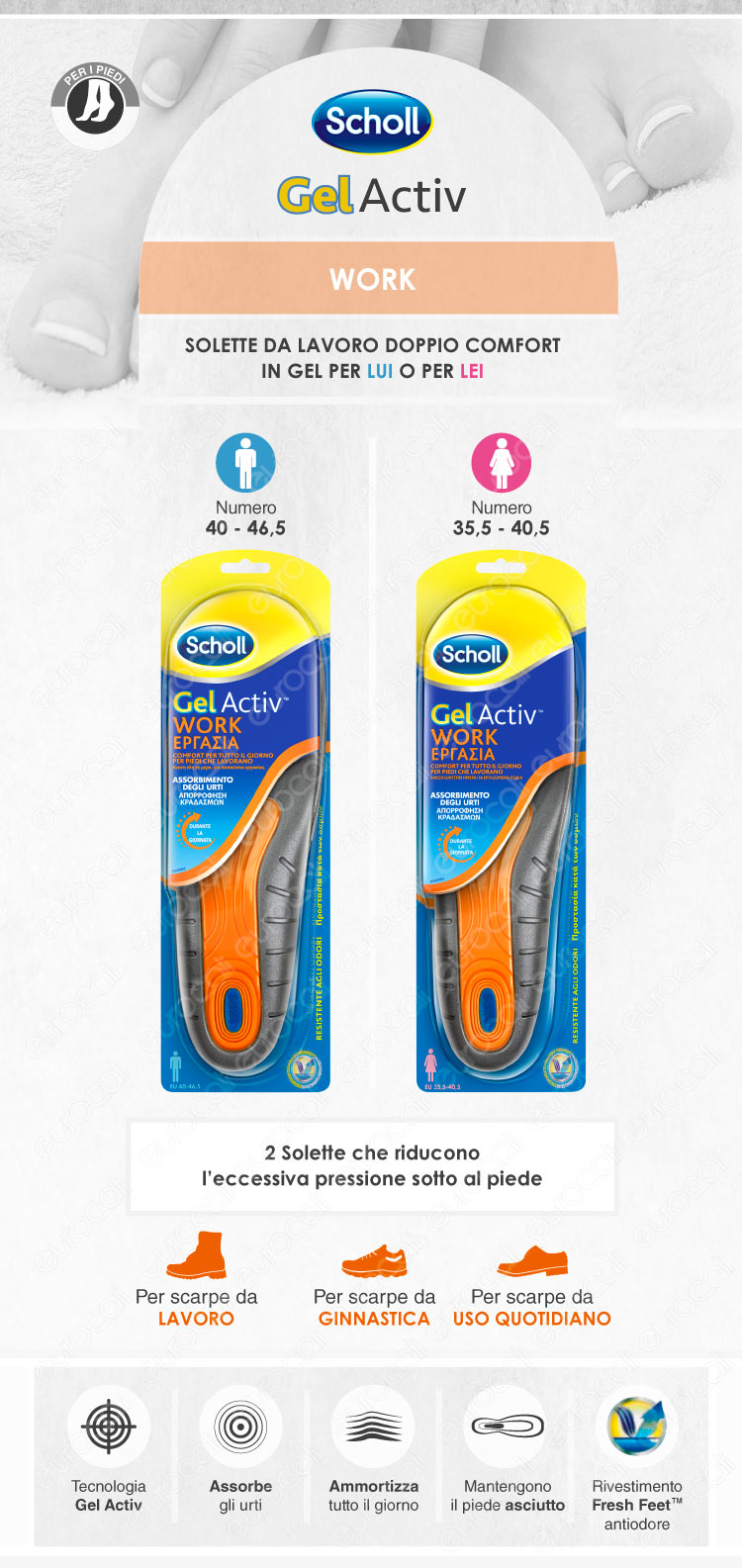 scholl work gel activ