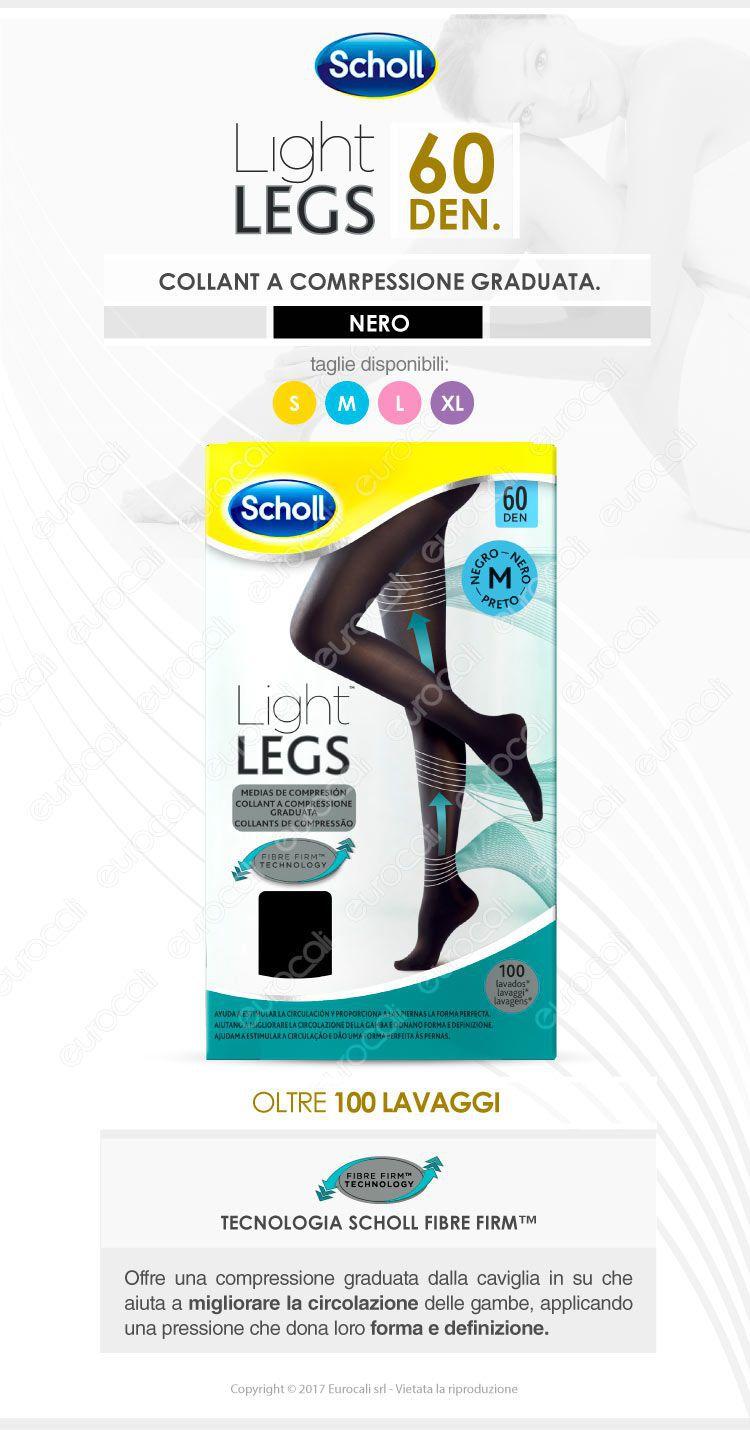 Scholl Light Legs Collant a pressione graduata 60 den. nero