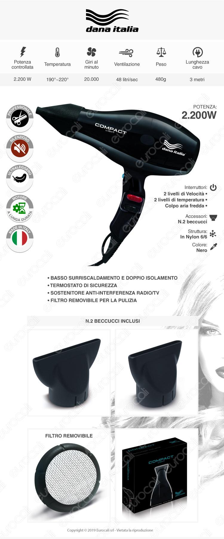 Dana Italia Asciugacapelli Professionale