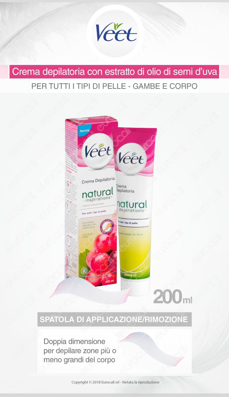 Veet crema depilatoria natural inspirations