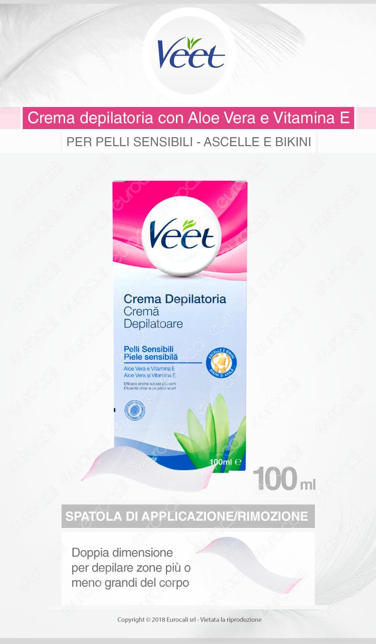 Veet crema depilatoria pelli sensibili