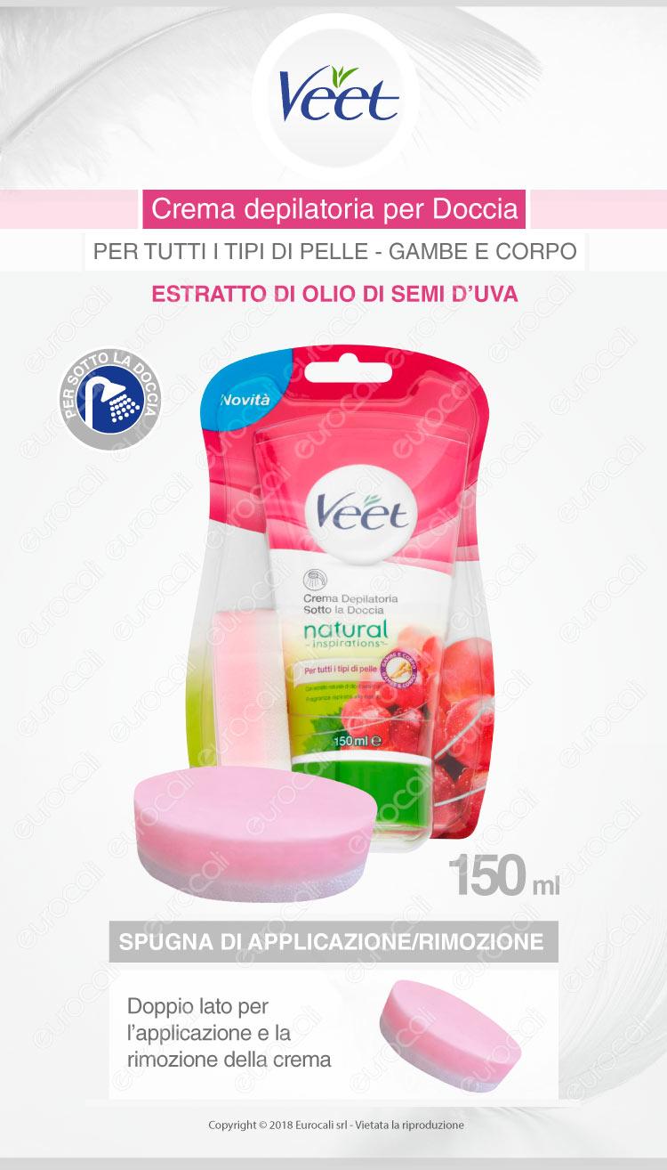 Veet crema depilatoria pelli normali sotto la doccia