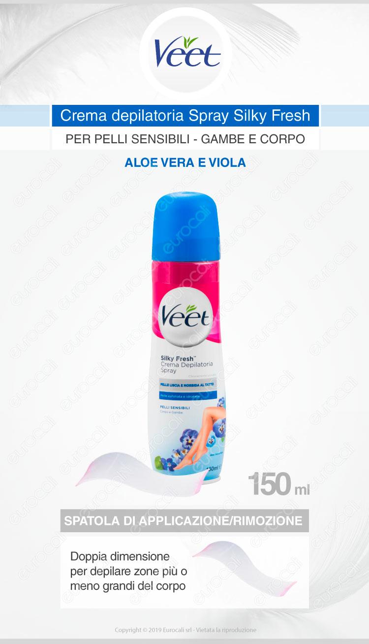 Veet crema depilatoria spray pelli sensibili
