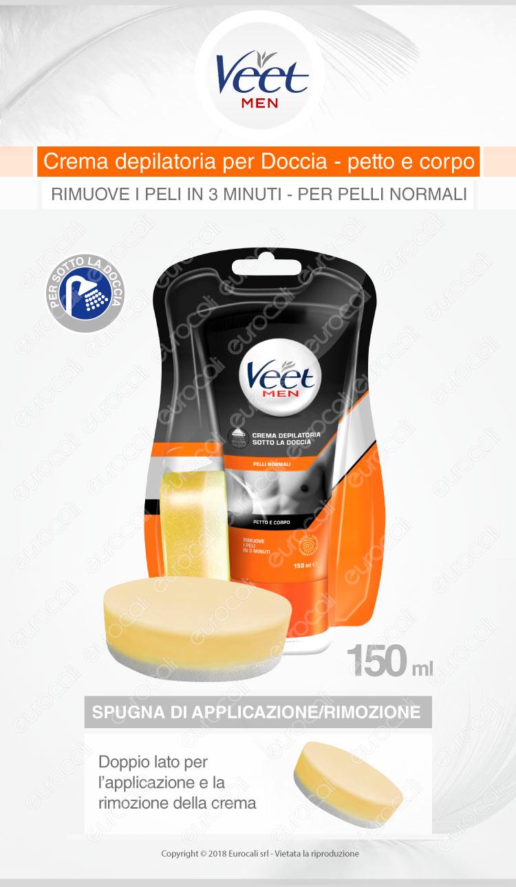 Veet crema depilatoria pelli normali for men sotto la doccia