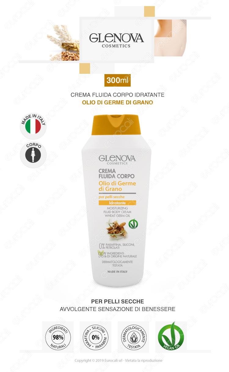 Glenova crema fluida corpo rigenerante olio di argan