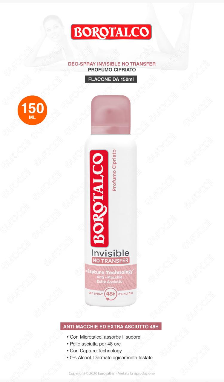 deodorante spray borotalco invisible