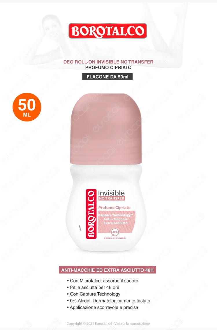 deodorante roll on borotalco invisible