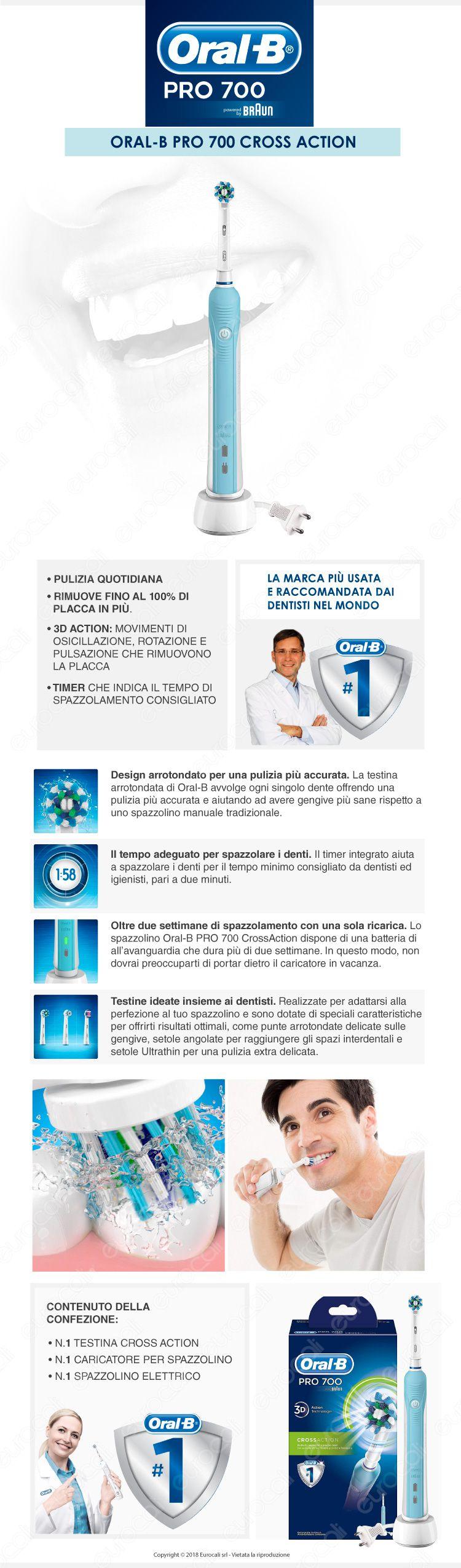 Oral-B Spazzolino Elettrico PRO 700
