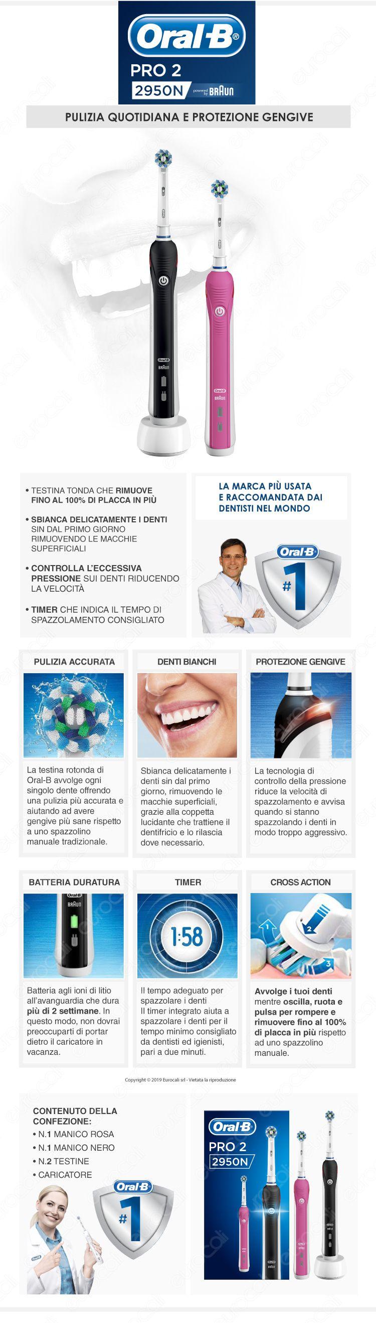 Oral-B Spazzolino Elettrico PRO2 2950N