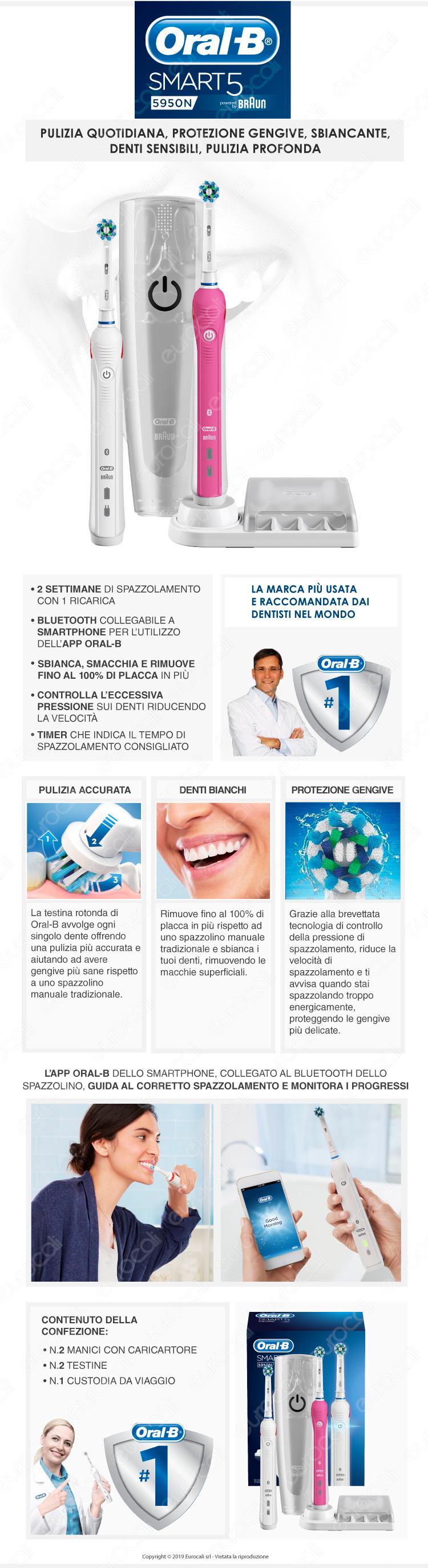 Oral-B Spazzolino Elettrico SmartSeries 5