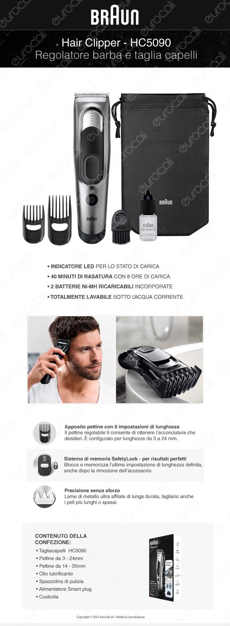 Braun hair clipper hc5050 rasoio tagliacapelli