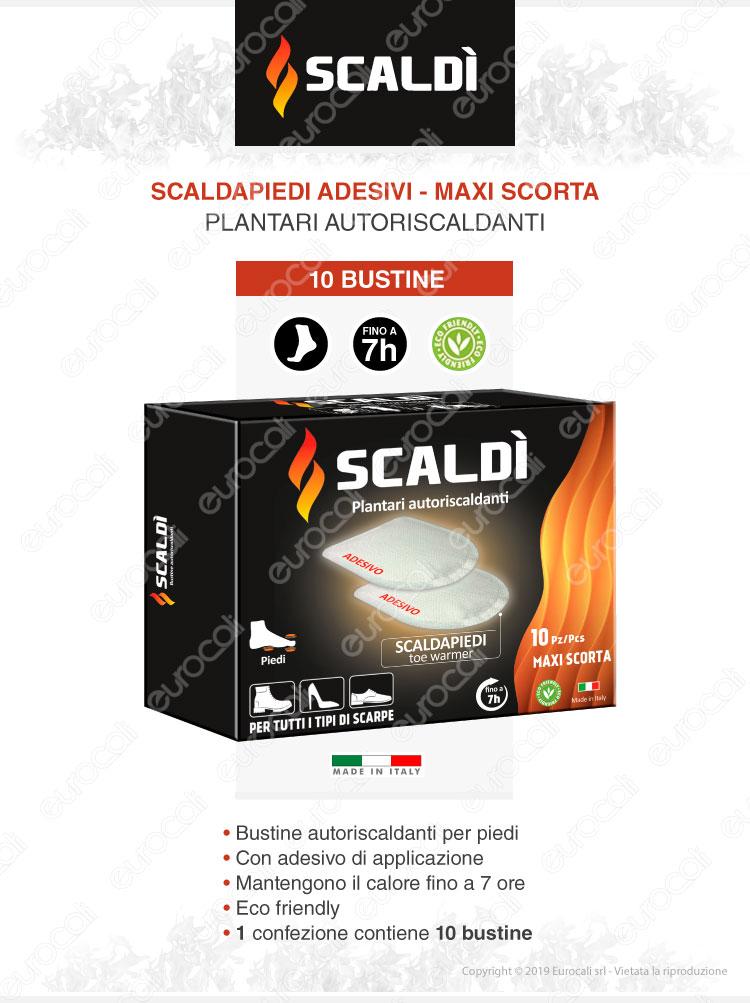 Plantari Scaldapiedi Adesivi Scaldì - 10 Bustine autoriscaldanti