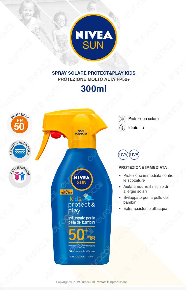 Nivea Spray Trigger Solare Kids FP50+