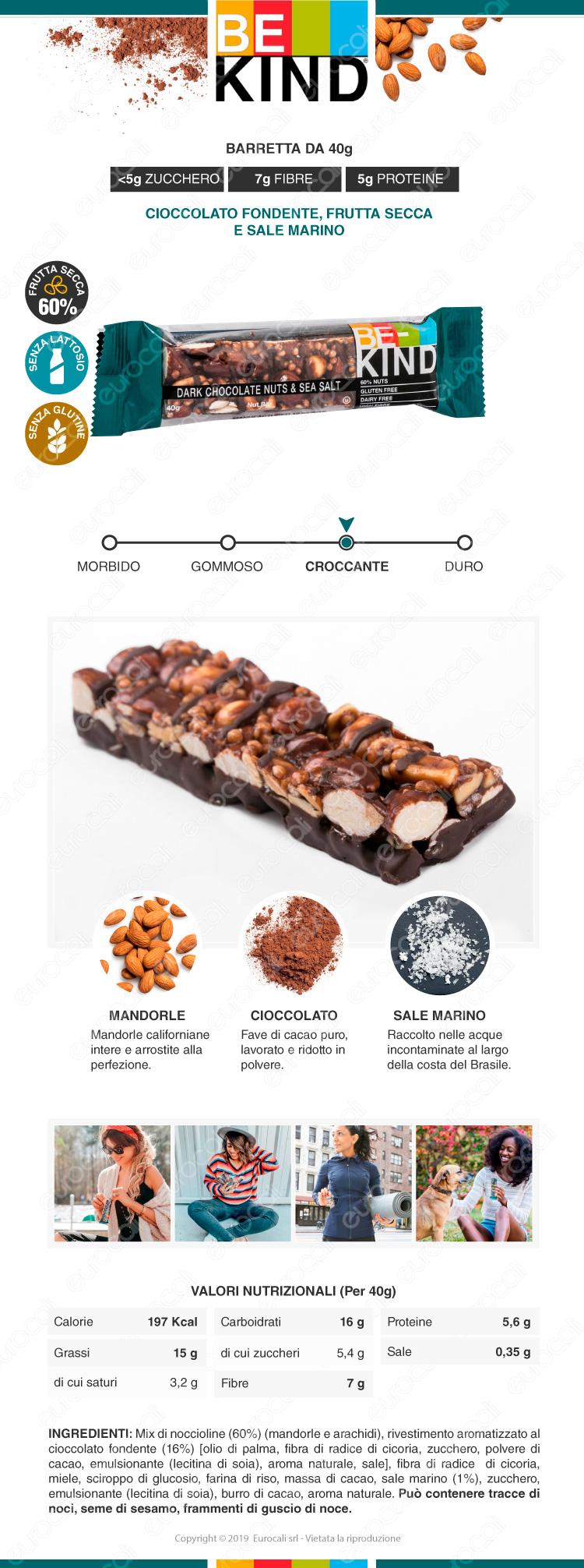be kind barretta snack cioccolato fondente frutta secca e sale marino