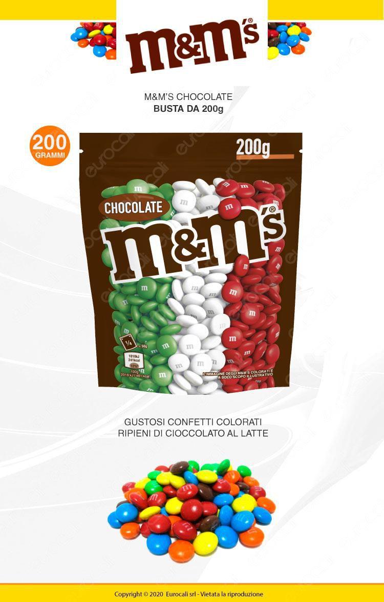 M&M's TRICOLORE Choco Confetti con Morbido Cioccolato - Busta da 200g