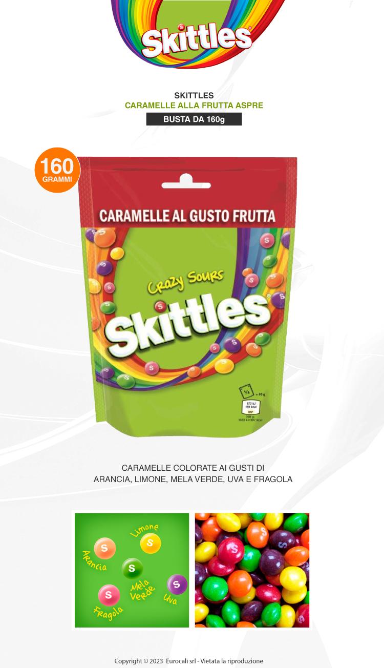 Skittles crazy soups caramelle all frutta aspro 160g
