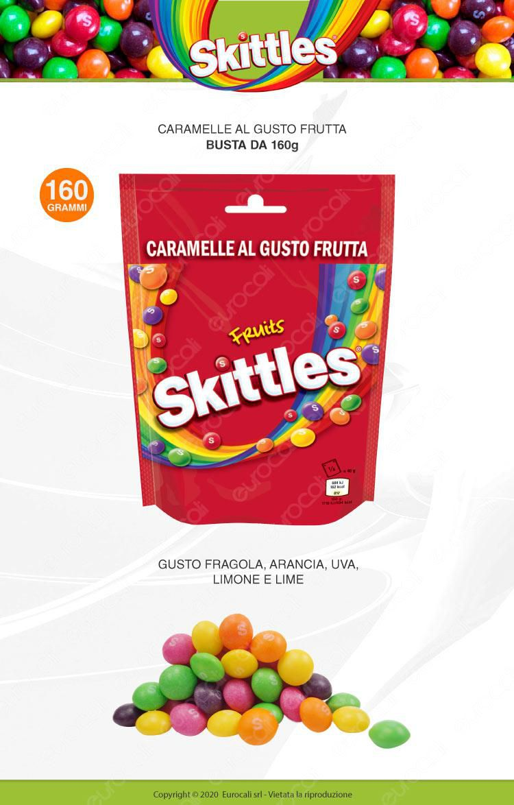 Skittles fruits caramelle all frutta 160g