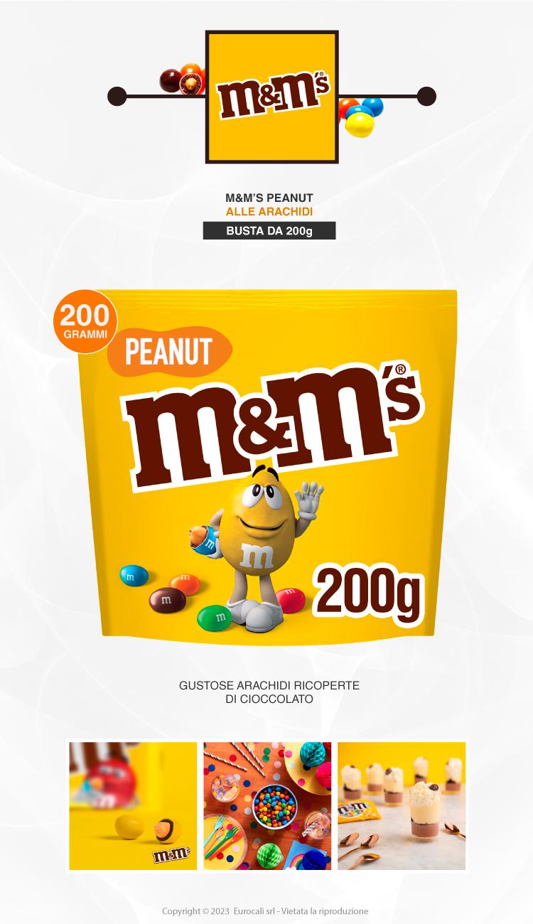 M&M's Peanut tRICOLORE Confetti con Arachidi Ricoperte di Cioccolato - Busta da 200g