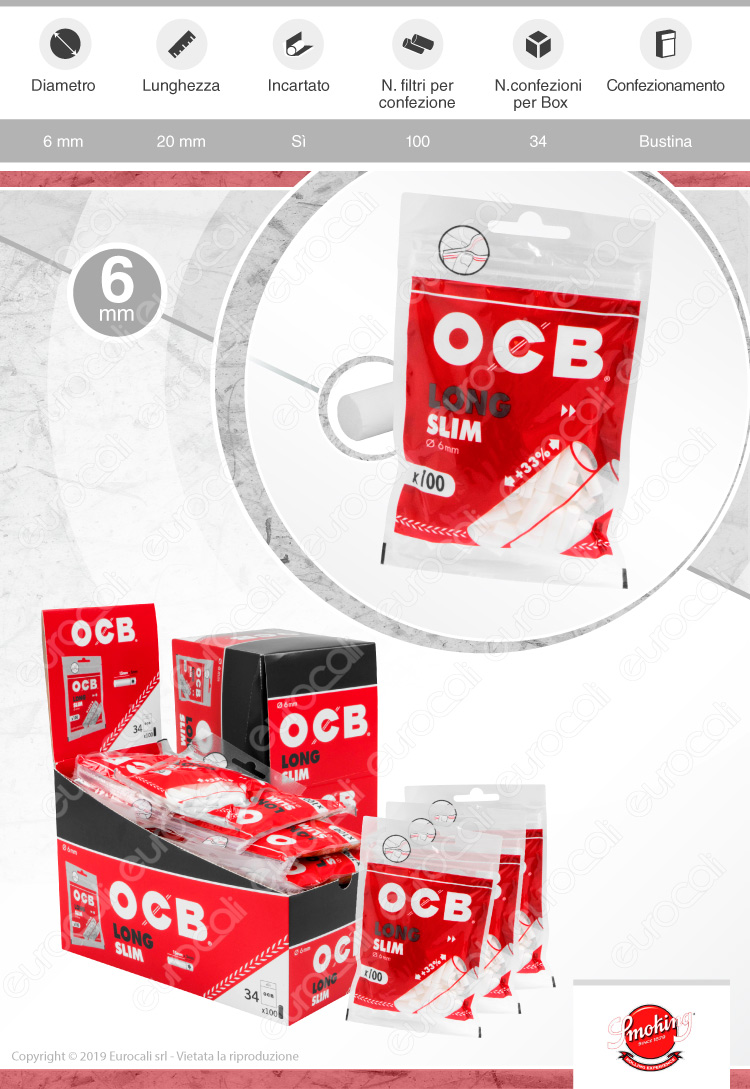 Filtri OCB Long Slim