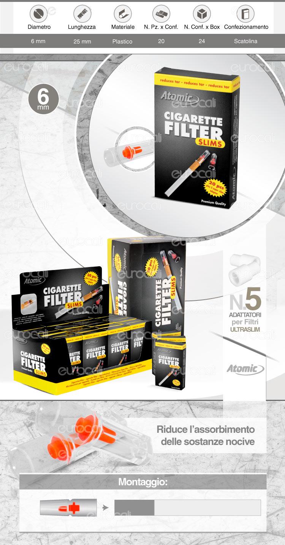 Atomic Cigarette Filter Slims Eco Pack
