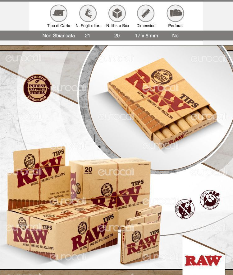 Filtri in Carta Raw Pre-Roling