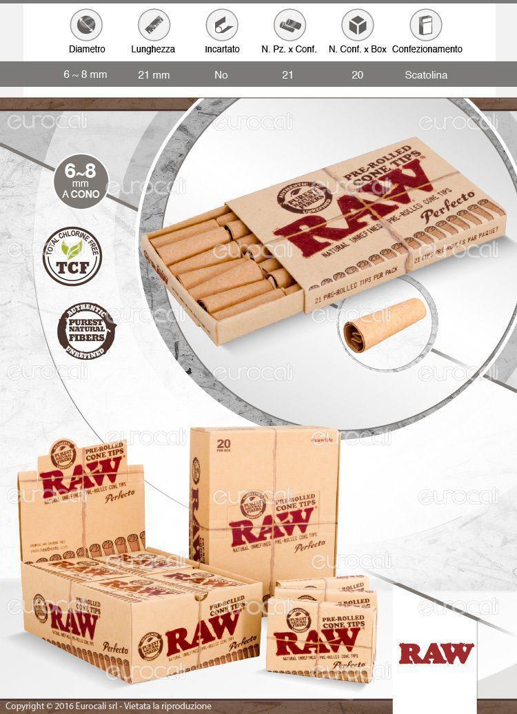 Raw cono classic prerollato con filtro