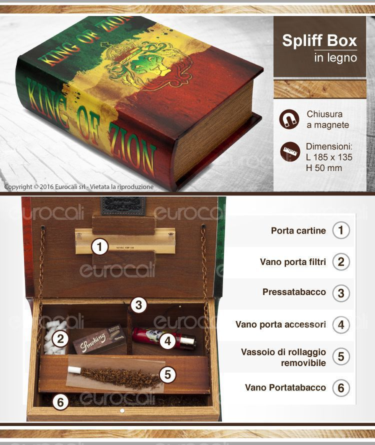 spliff box mini king of zion