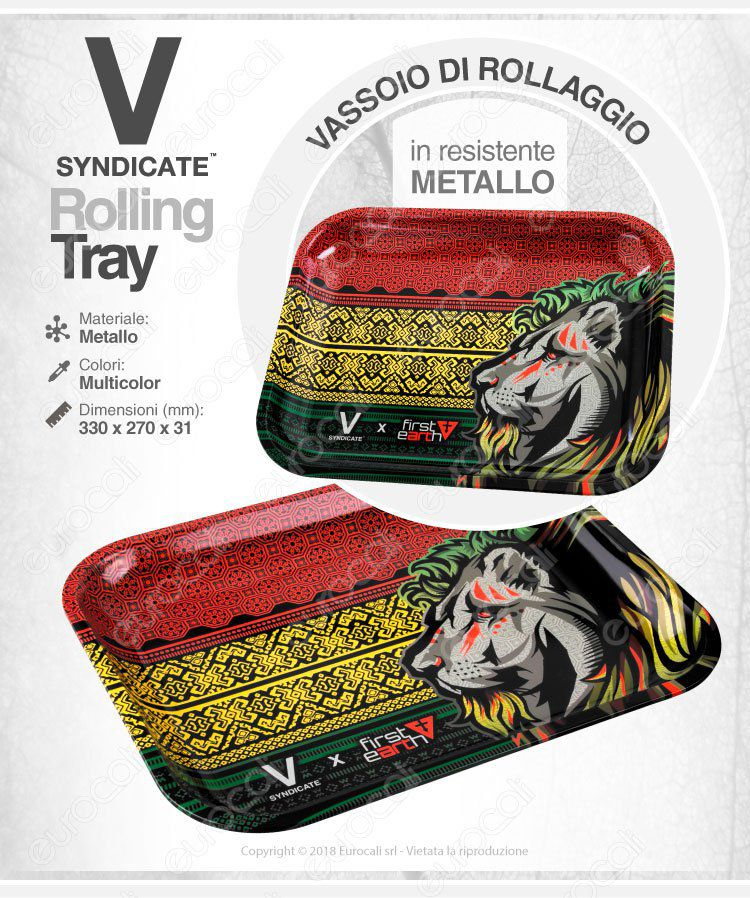 Rolling Tray Vassoio Rollaggio V-Syndicate