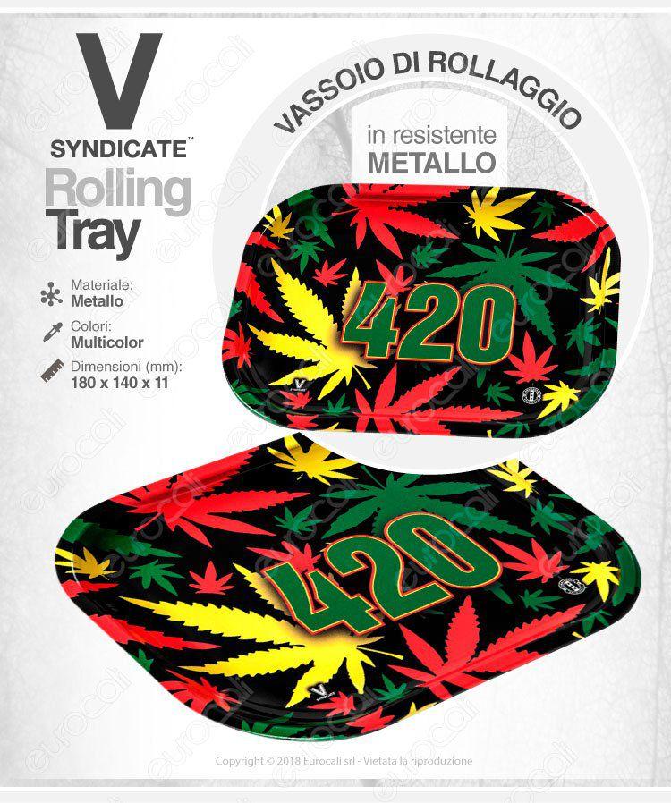 Rolling Tray Vassoio Rollaggio V-Syndicate