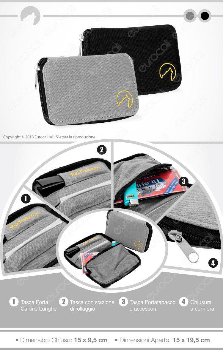 Portatabacco Wolf Productions Hemp Rolling Kits