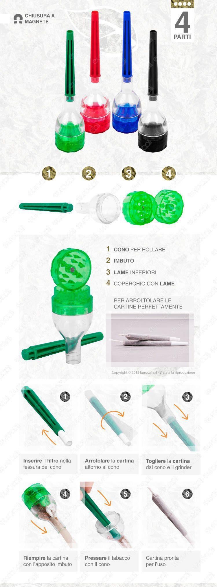 Atomic Grinder Tritatabacco in Plastica 3 Parti