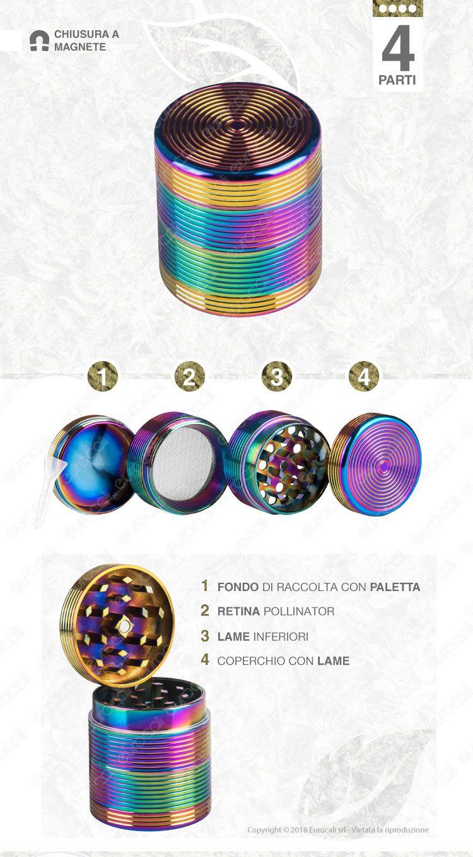 Grinder Tritatabacco in Metallo 4 Parti
