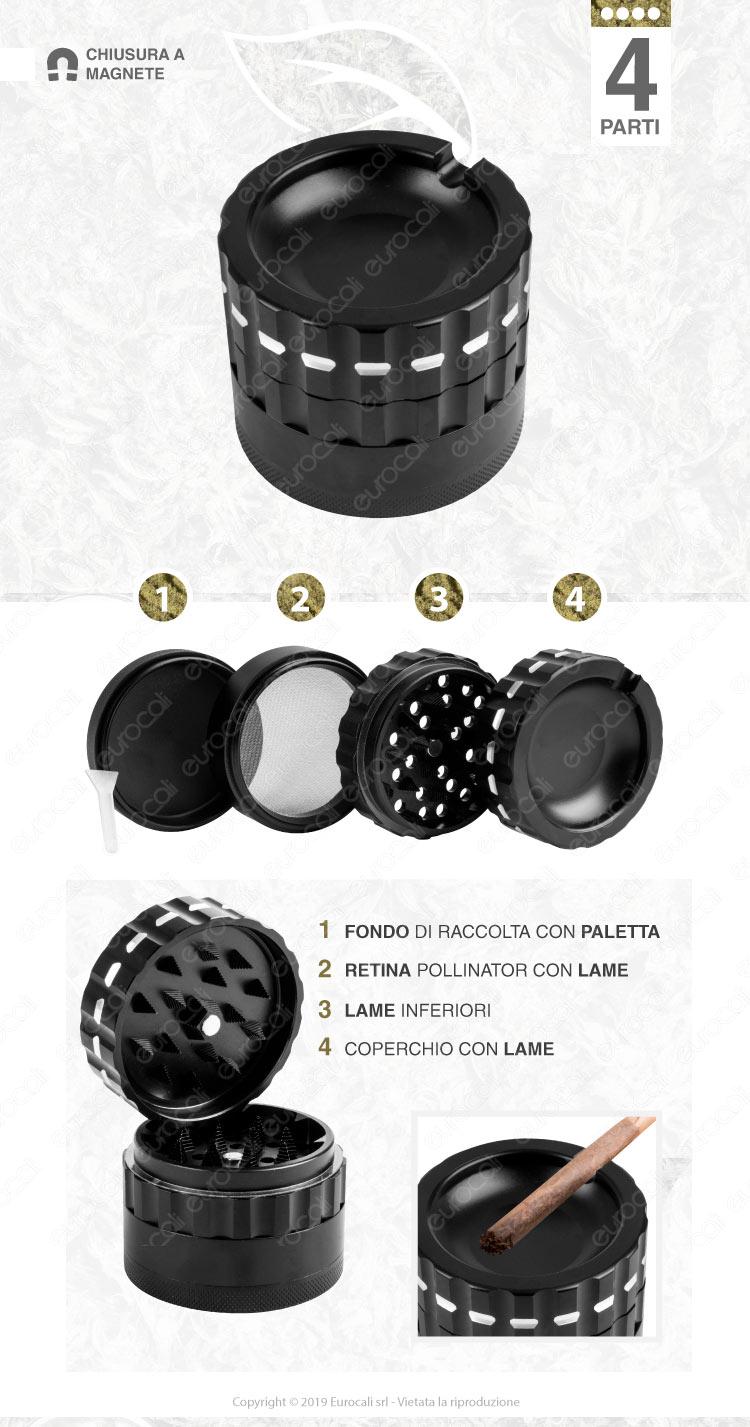 Grinder Tritatabacco in Metallo