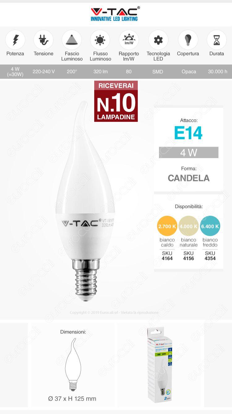 lampadina v-tac E14