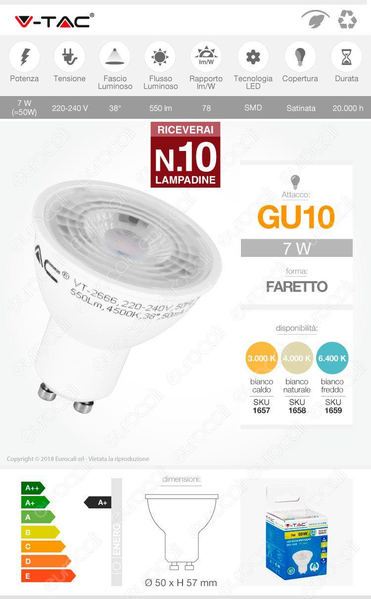 faretto LED GU10 V-Tac