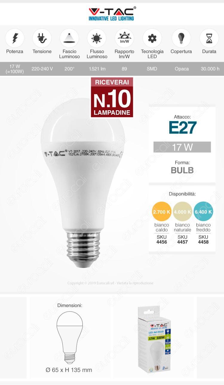 Lampadina LED V-Tac Bulb A65