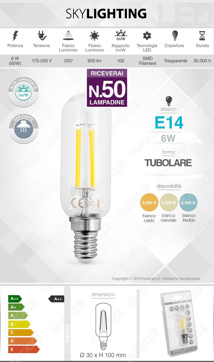 Lampadina LED filamento SkyLighting E14