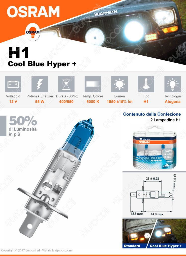 Osram cool blue hyper plus