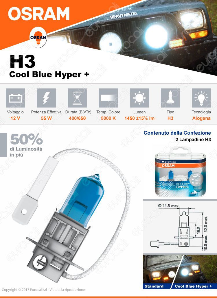 Osram cool blue hyper plus