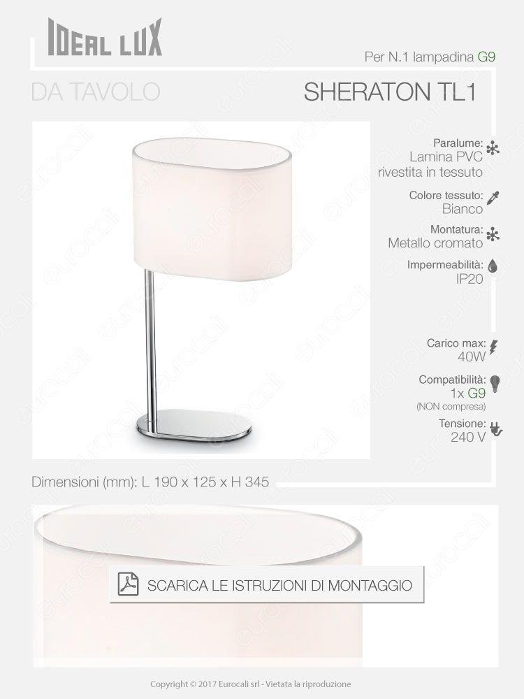 Porta lampada lampada da tavolo Ideal Lux