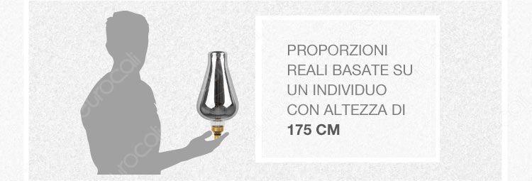 banner dimensioni reali lampadina gigante