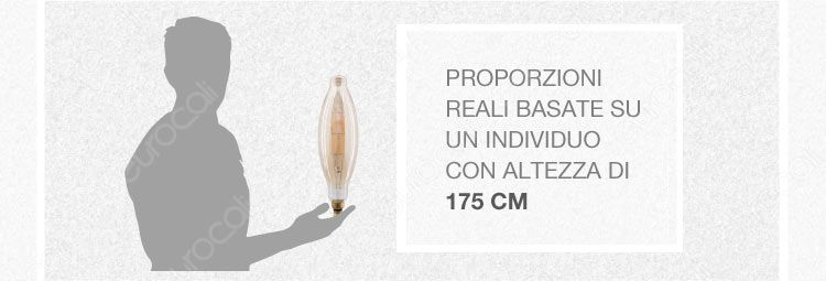 banner lampadine extralarge dimensioni